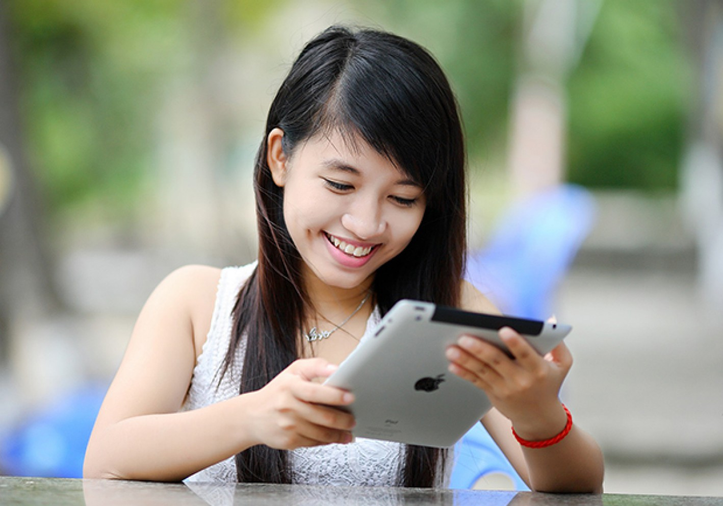 Girl with iPad